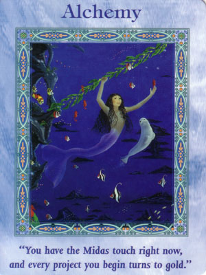 Alchemy Card Extended Description - Mermaids and Dolphins Oracle Cards by Doreen Virtue