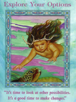Explore Your Options Card Extended Description - Mermaids and Dolphins Oracle Cards by Doreen Virtue