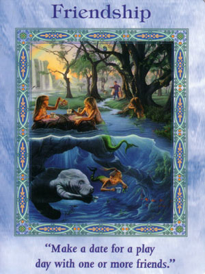 Friendship Card Extended Description - Magical Mermaids & Dolphins Oracle Cards by Doreen Virtue