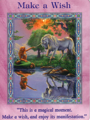 Make a Wish Card Extended Description - Mermaids and Dolphins Oracle Cards by Doreen Virtue