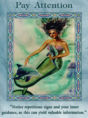 Pay Attention Card Extended Description - Mermaids and Dolphins Oracle Cards by Doreen Virtue