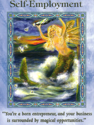 Self Employment Card Extended Description - Mermaids and Dolphins Oracle Cards by Doreen Virtue