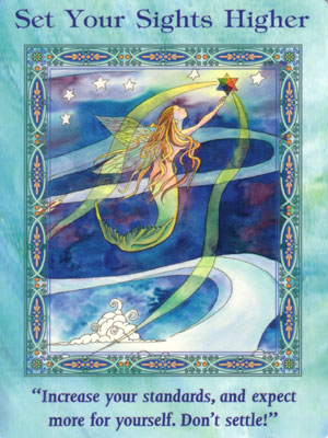 Set Your Sights Higher Card Extended Description - Mermaids and Dolphins Oracle Cards by Doreen Virtue