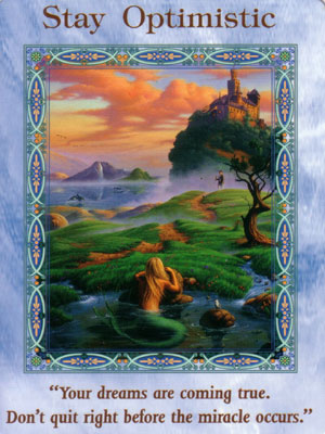Stay Optimistic Card Extended Description - Mermaids and Dolphins Oracle Cards by Doreen Virtue