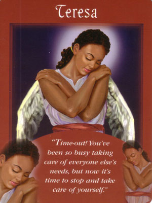 Teresa  Angel Card Extended Description - Messages from Your Angels Oracle Cards by Doreen Virtue