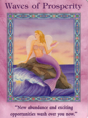 Waves of Prosperity Card Extended Description - Mermaids and Dolphins Oracle Cards by Doreen Virtue