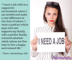Attracting a Job