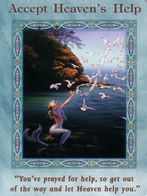 Accept Heaven's Help Extended Description - Mermaids and Dolphins Oracle Cards by Doreen Virtue