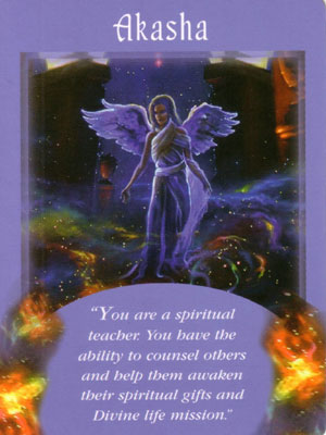 Akasha Angel Card Extended Description - Messages from Your Angels Oracle Cards by Doreen Virtue