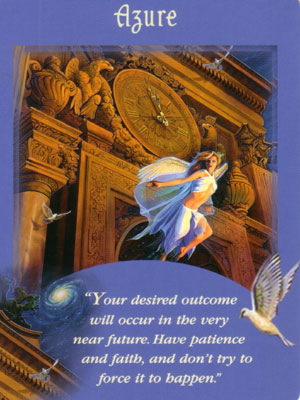 Azure Angel Card Extended Description - Messages from Your Angels Oracle Cards by Doreen Virtue