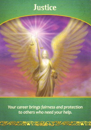 Justice Oracle Card Extended Description - Life Purpose Oracle Cards by Doreen Virtue