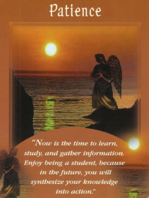 Patience Angel Card Extended Description - Messages from Your Angels Oracle Cards by Doreen Virtue