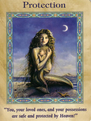 Protection Card Extended Description - Mermaids and Dolphins Oracle Cards by Doreen Virtue