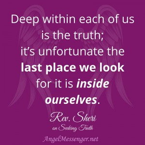 Rev. Sheri on Seeking Truth