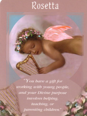 Rosetta Angel Card Extended Description - Messages from Your Angels Oracle Cards by Doreen Virtue
