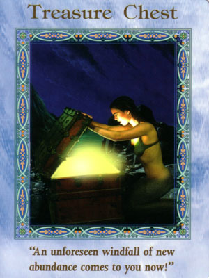 Treasure Chest Card Extended Description - Mermaids and Dolphins Oracle Cards by Doreen Virtue