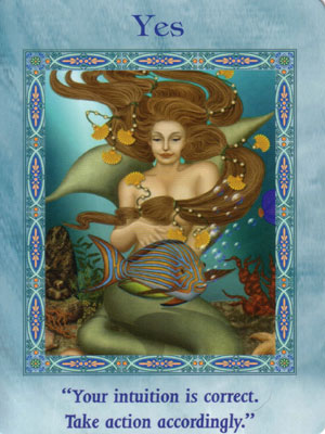 Yes Card Extended Description - Mermaids and Dolphins Oracle Cards by Doreen Virtue