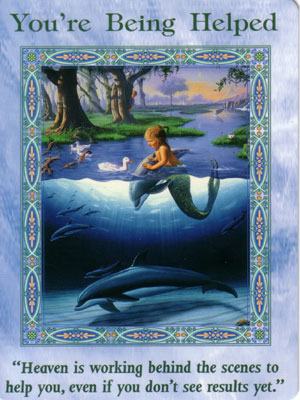 You're Being Helped Card Extended Description - Mermaids and Dolphins Oracle Cards by Doreen Virtue
