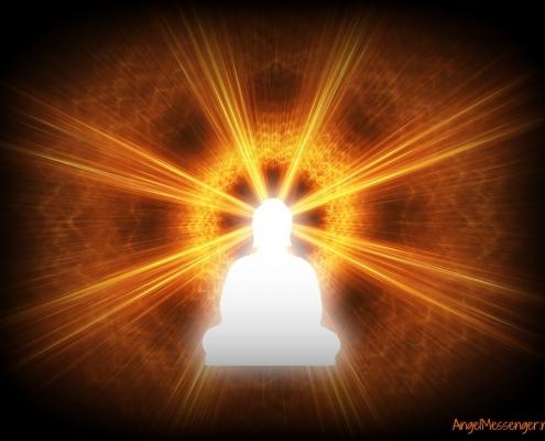 spiritual teacher fighting off encroaching darkness